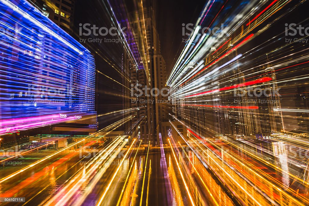Abstract from Building Lights, Creative Composition stock photo