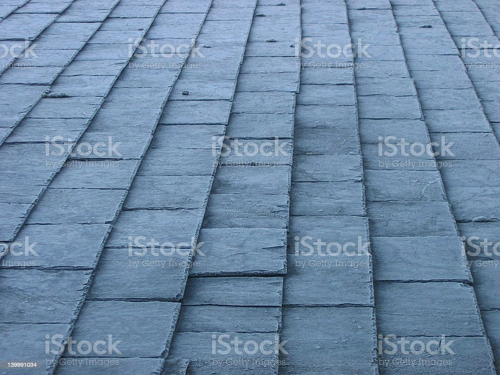Abstract frosted slate roof tiles royalty-free stock photo