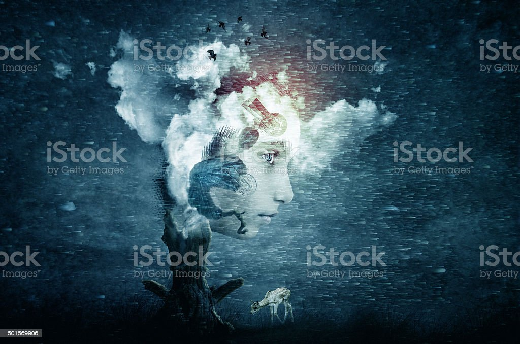abstract futuristic art imagination stock photo