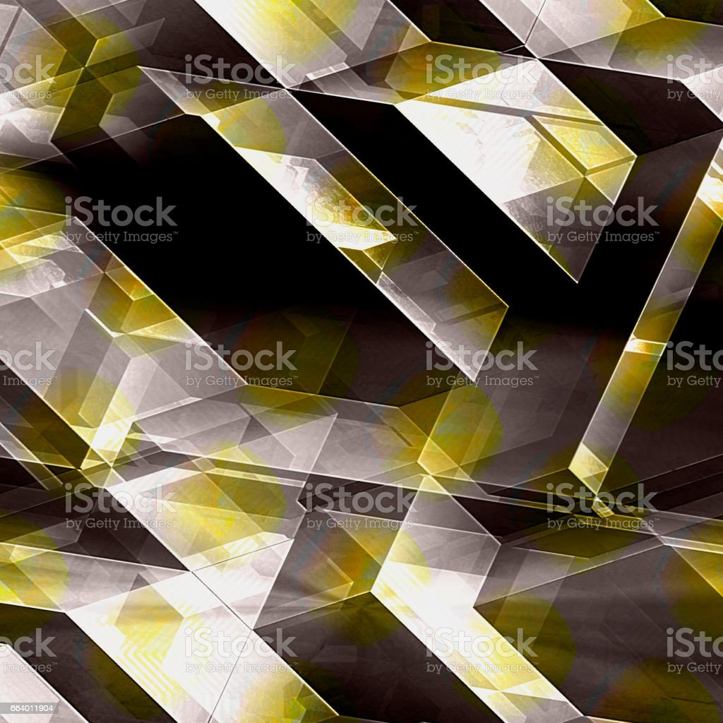 Abstract futuristic background with brown, gold and white blocks resembling modern architecture stock photo