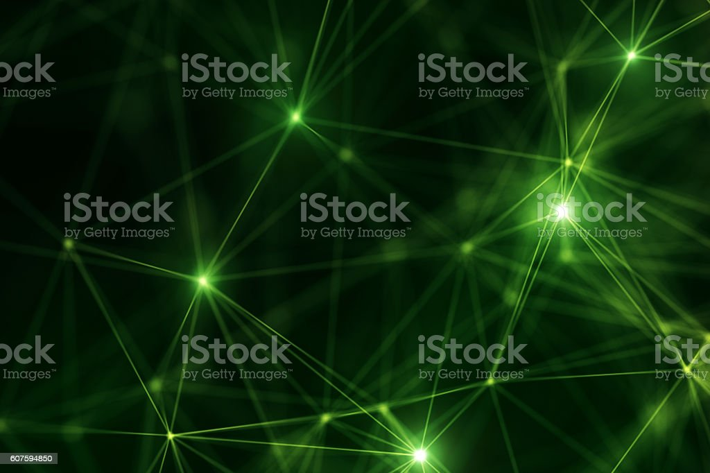 Abstract Futuristic Network stock photo
