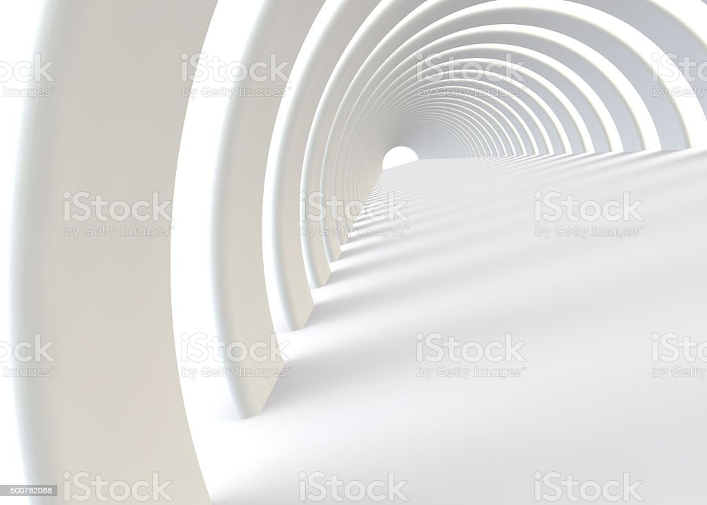 Abstract futuristic tunnel in a contemporary style stock photo