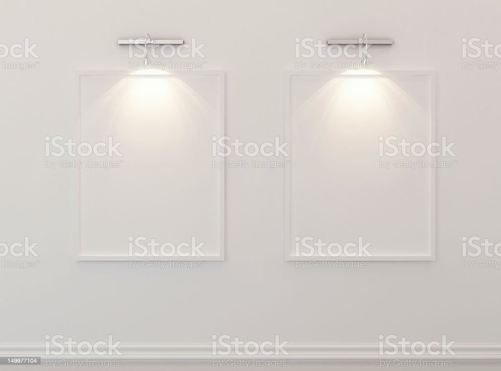 Abstract gallery stock photo