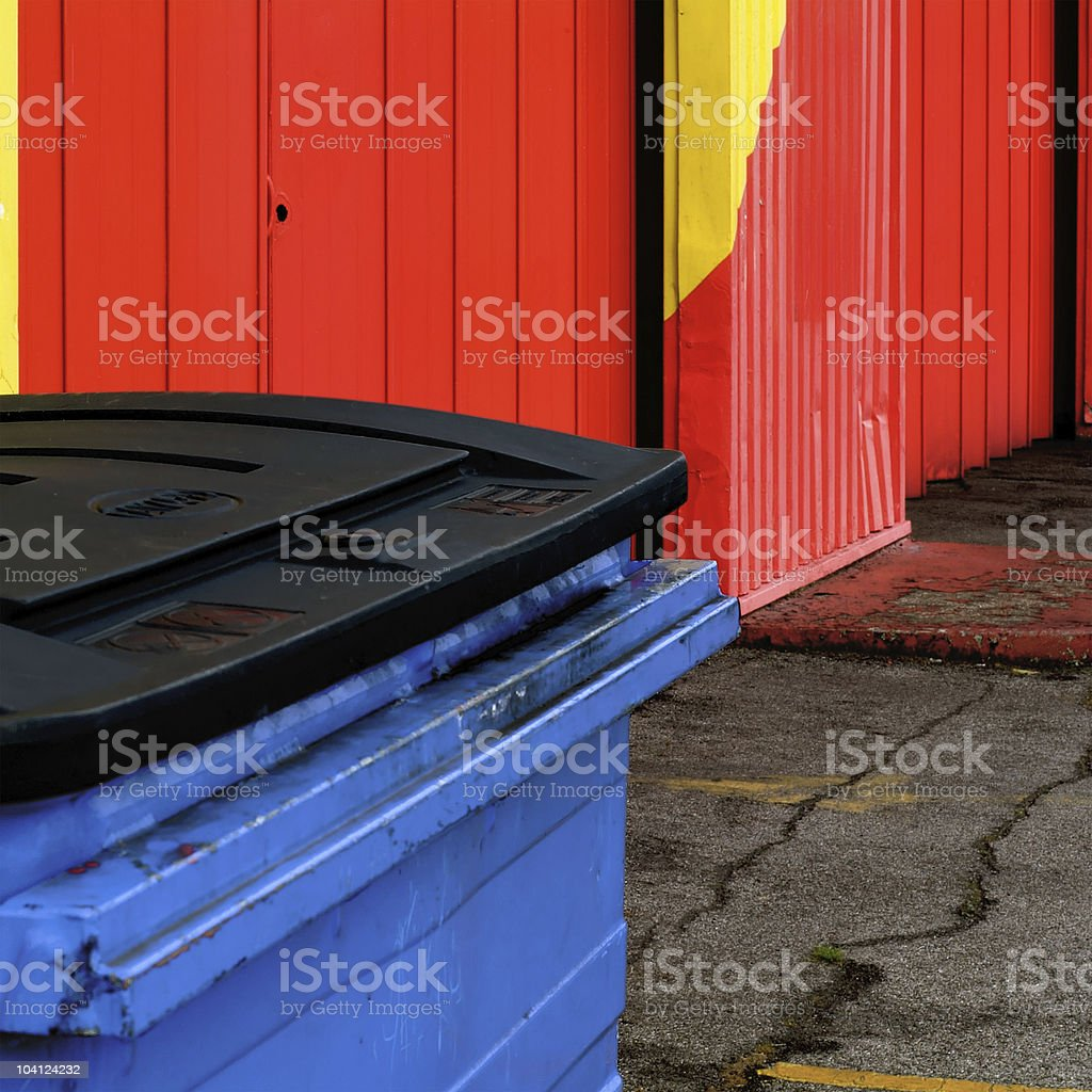 RYB (Red Yellow Blue) - Abstract garbage container royalty-free stock photo