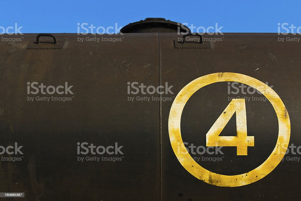 Abstract gas tank royalty-free stock photo