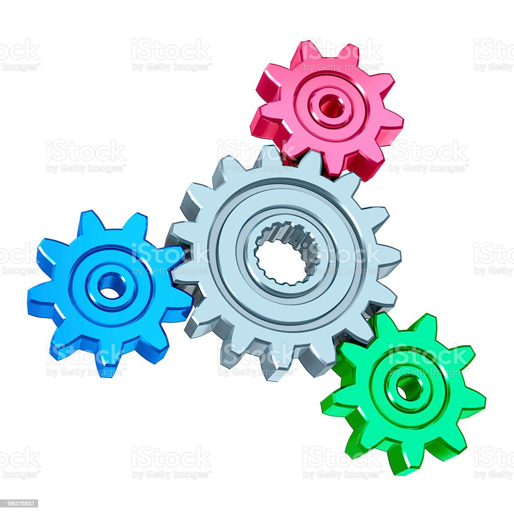 abstract gears royalty-free stock photo