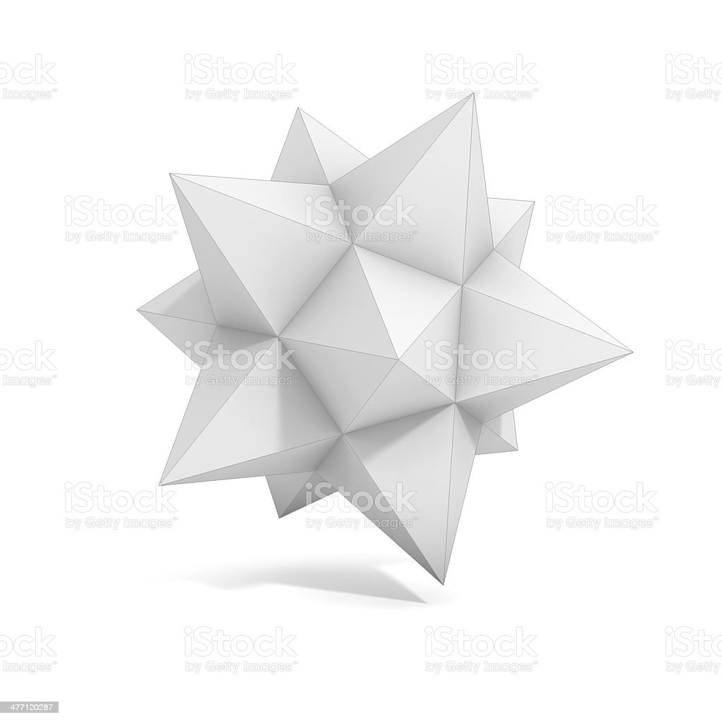 abstract geometric 3d object - polyhedron variation royalty-free stock photo