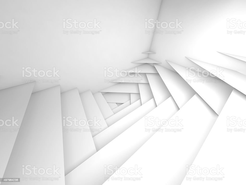 Abstract geometric background. White layers 3d art vector art illustration