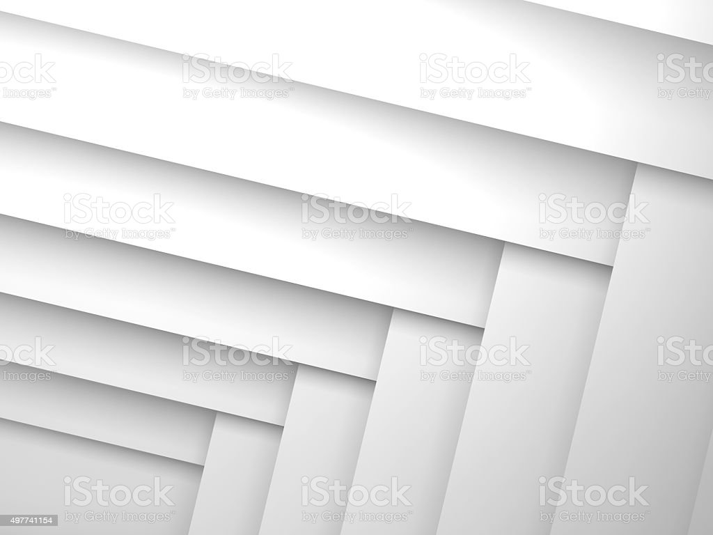 Abstract geometric background with white layers stock photo