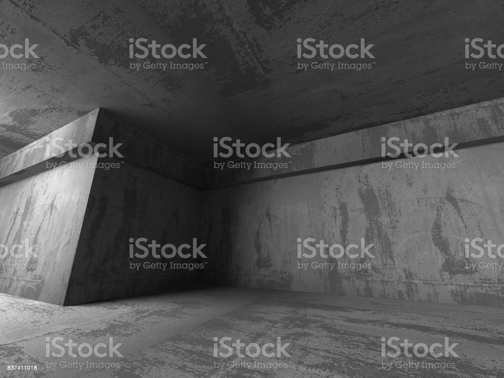 Abstract geometric concrete architecture background stock photo