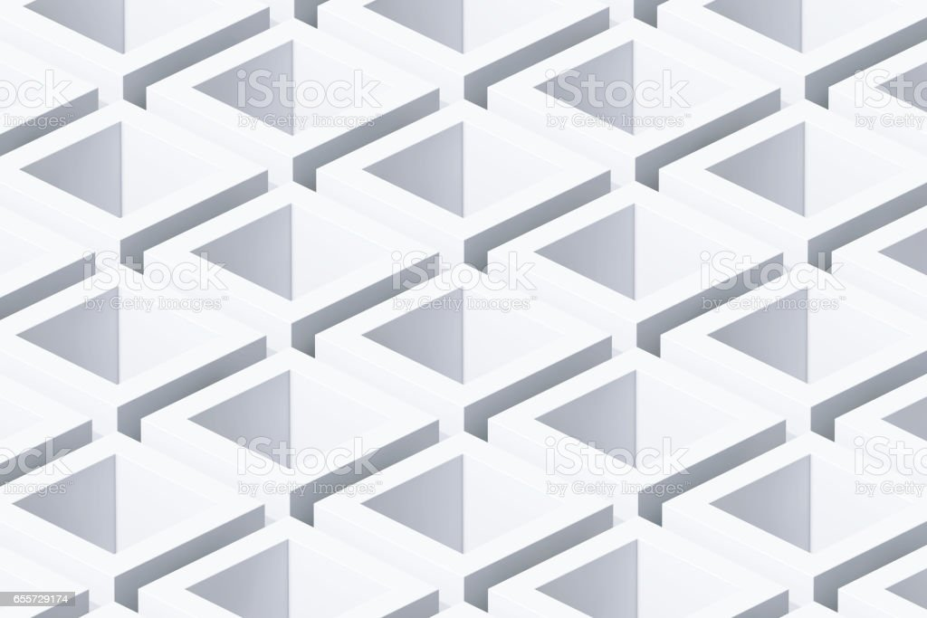 Abstract Geometric Cube Background. 3d Rendering stock photo