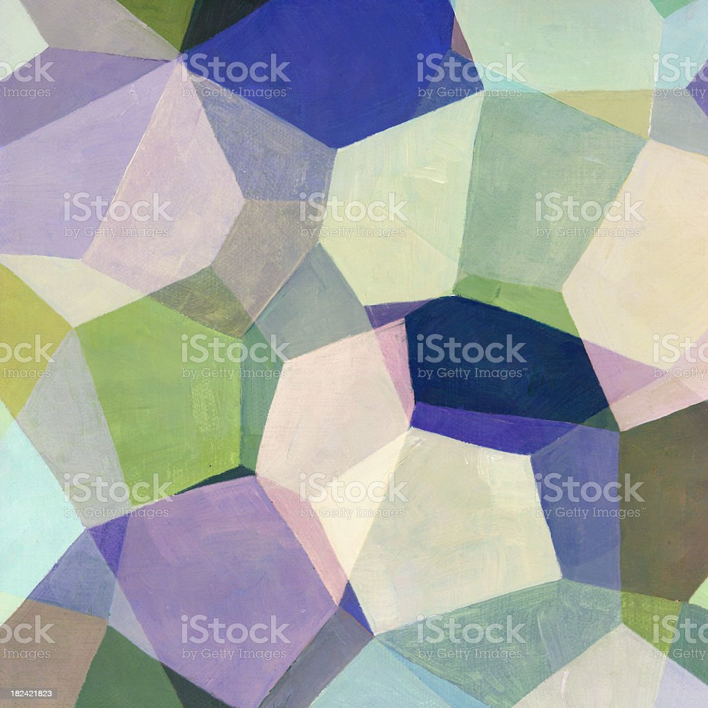 Abstract Geometric Painting royalty-free stock photo