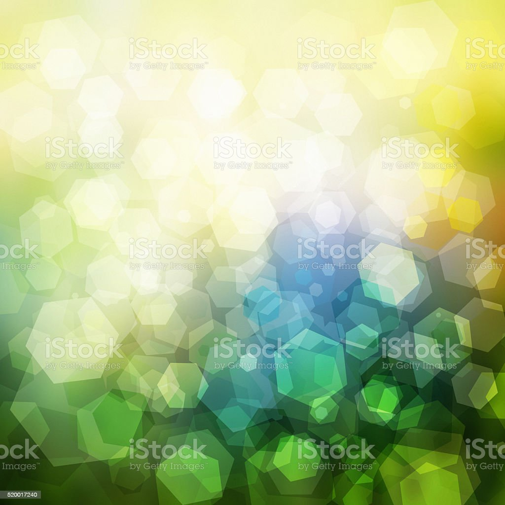 Abstract geometric pastel colored retro bokeh background stock photo