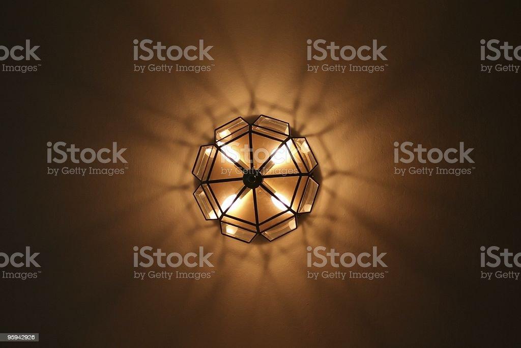 Abstrait motif géométrique léger lustre photo libre de droits