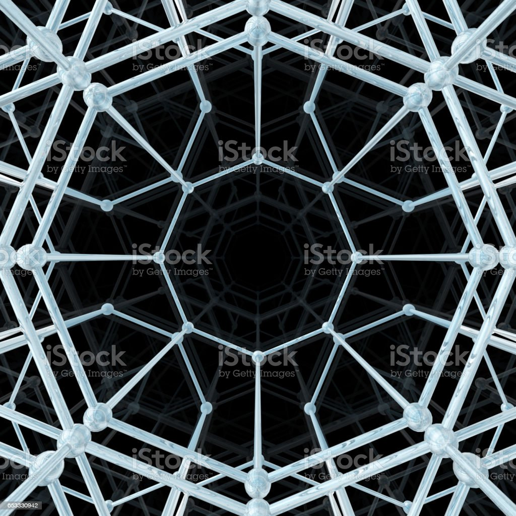 Abstract geometric pattern. Network connection stock photo