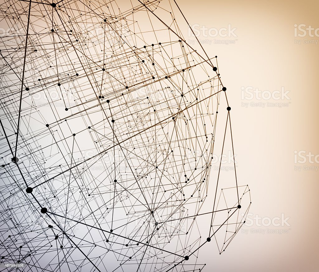 Abstract geometric polygonal structure stock photo