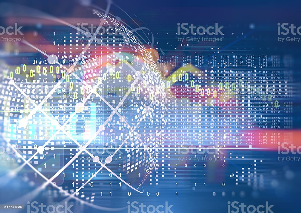 Abstract geometric technology graphic elements stock photo