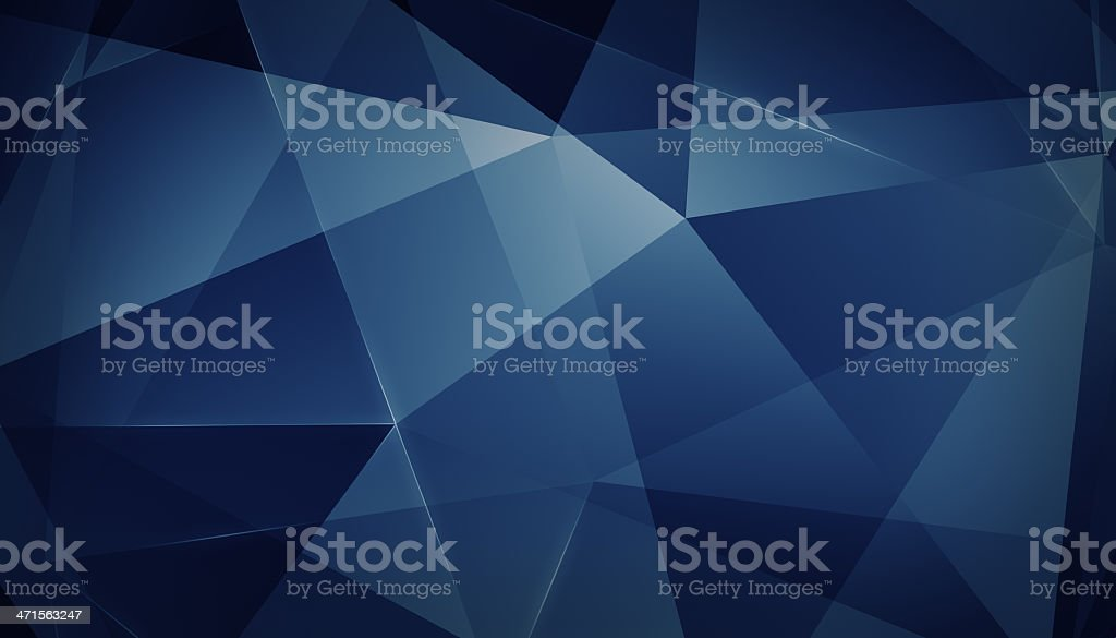 Abstract geometric triangle background. Blue Version. stock photo