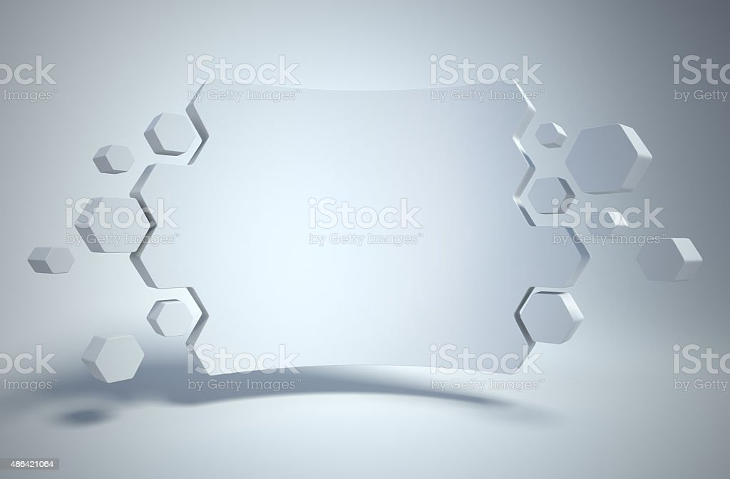 abstract geometry as 3d background stock photo