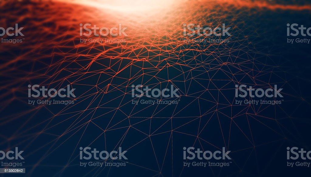 Abstract triangular geometry with light. Abstract background
