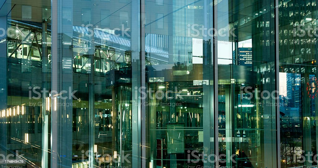 Abstract Glass Facade of Modern Office Building royalty-free stock photo