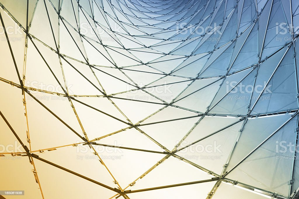Abstract Glass Panels stock photo