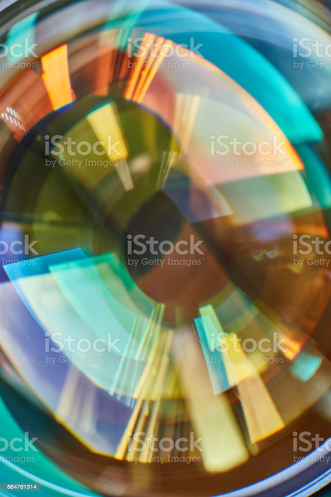 Abstract glass reflections stock photo