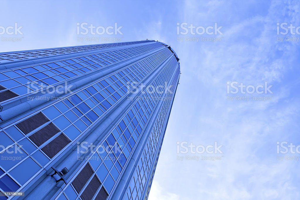 abstract glass side of business building royalty-free stock photo