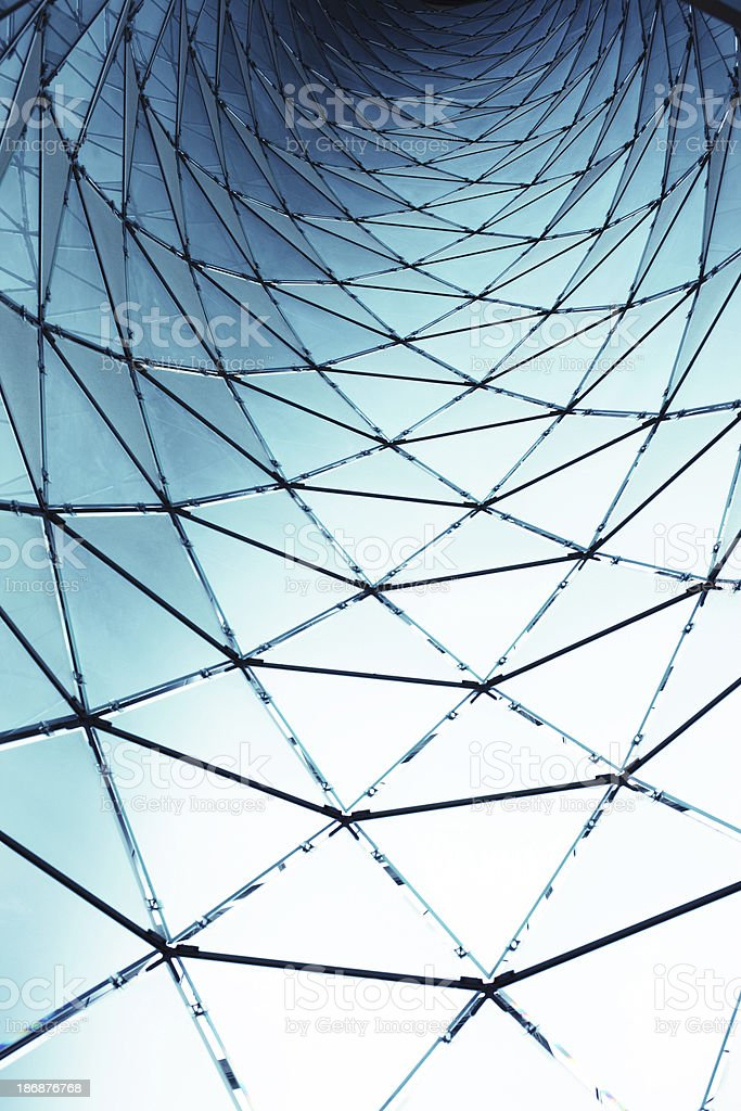 Abstract Glass Structure royalty-free stock photo