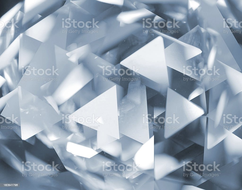 Abstract glass triangles royalty-free stock photo