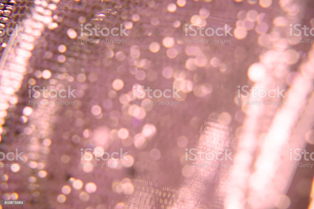 Abstract glitter background, pink bokeh texture stock photo