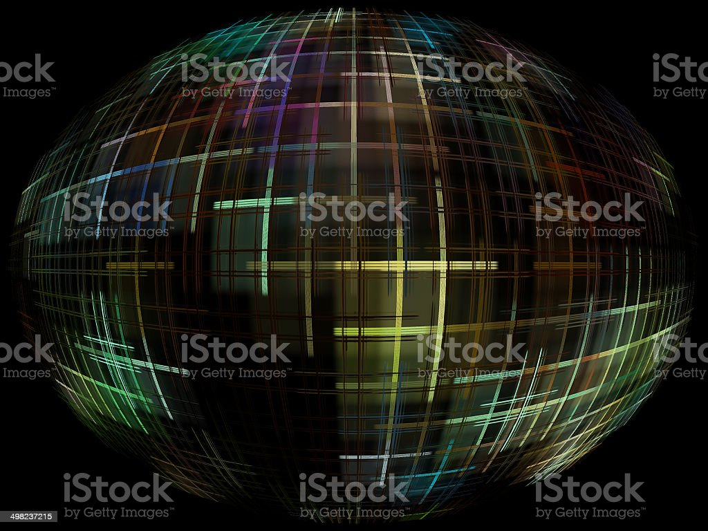 Abstract globe silhouette with global internet control. royalty-free stock photo