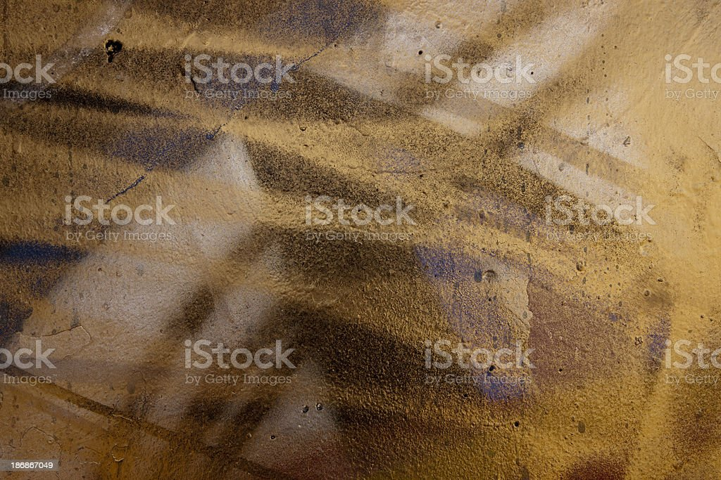 Abstract Gold and Black Painted Background royalty-free stock photo