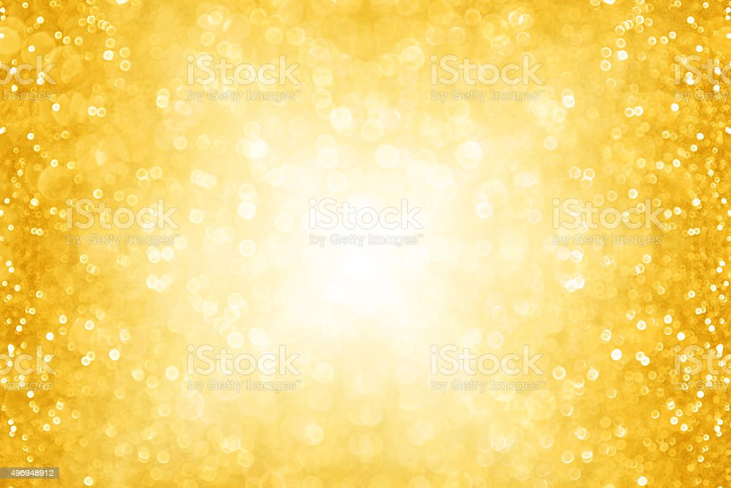 Abstract Gold Christmas Sparkle Background stock photo