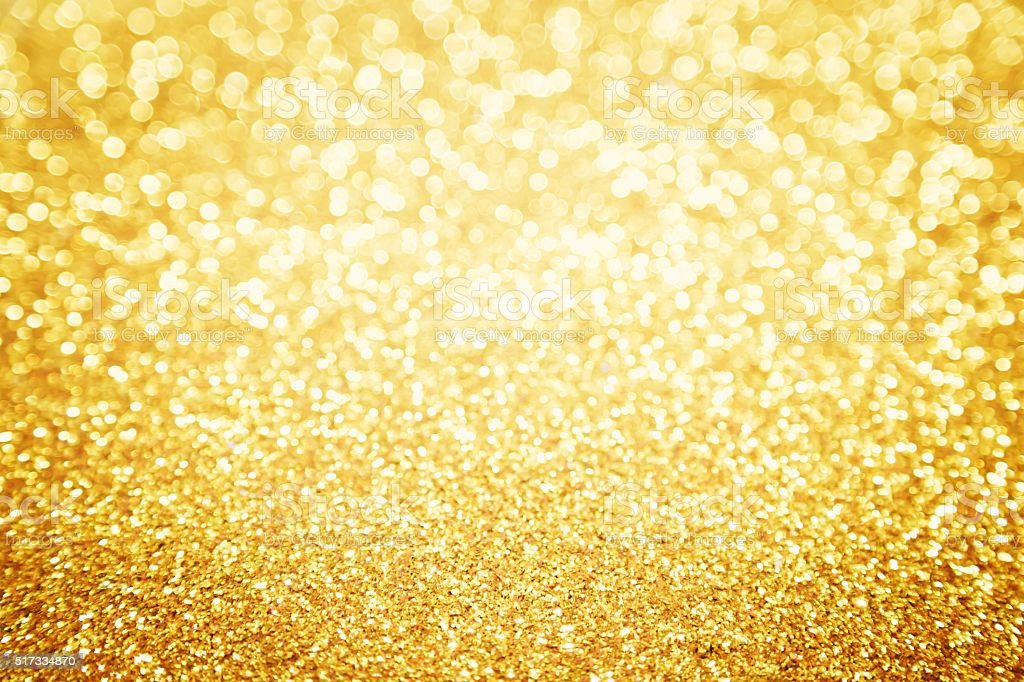 Abstract Gold Glitter for background stock photo