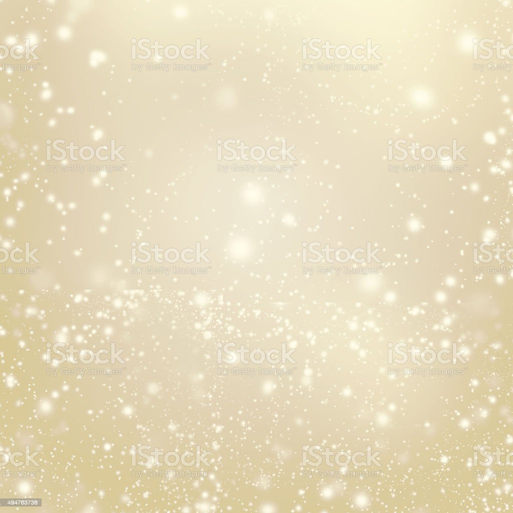 Abstract Gold glittering christmas lights - Blurred  background stock photo