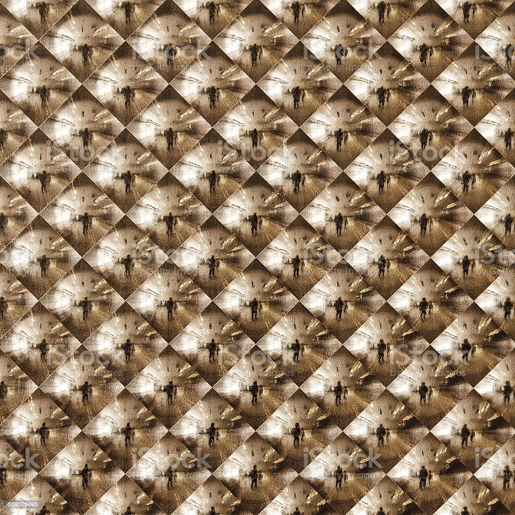 Abstract gold mosaic royalty-free stock photo