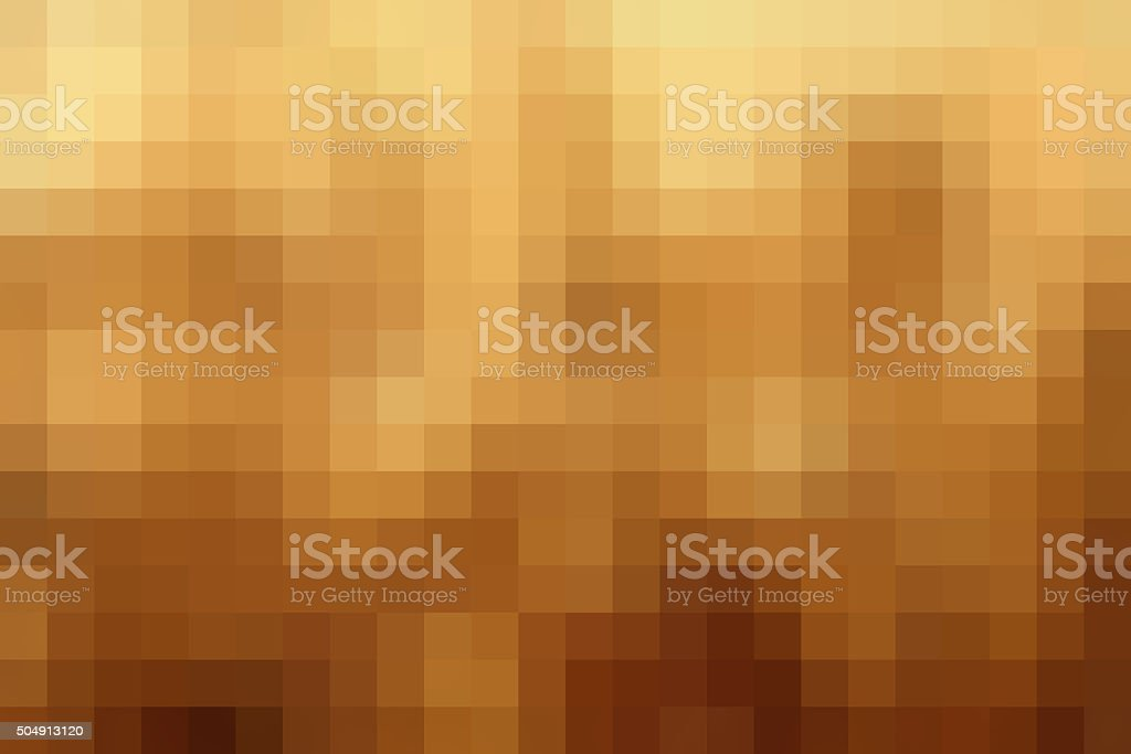 Abstract Gold pixel background stock photo