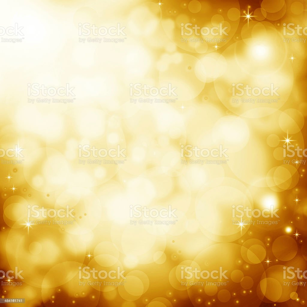Abstract golden background with lens flare effect stock photo