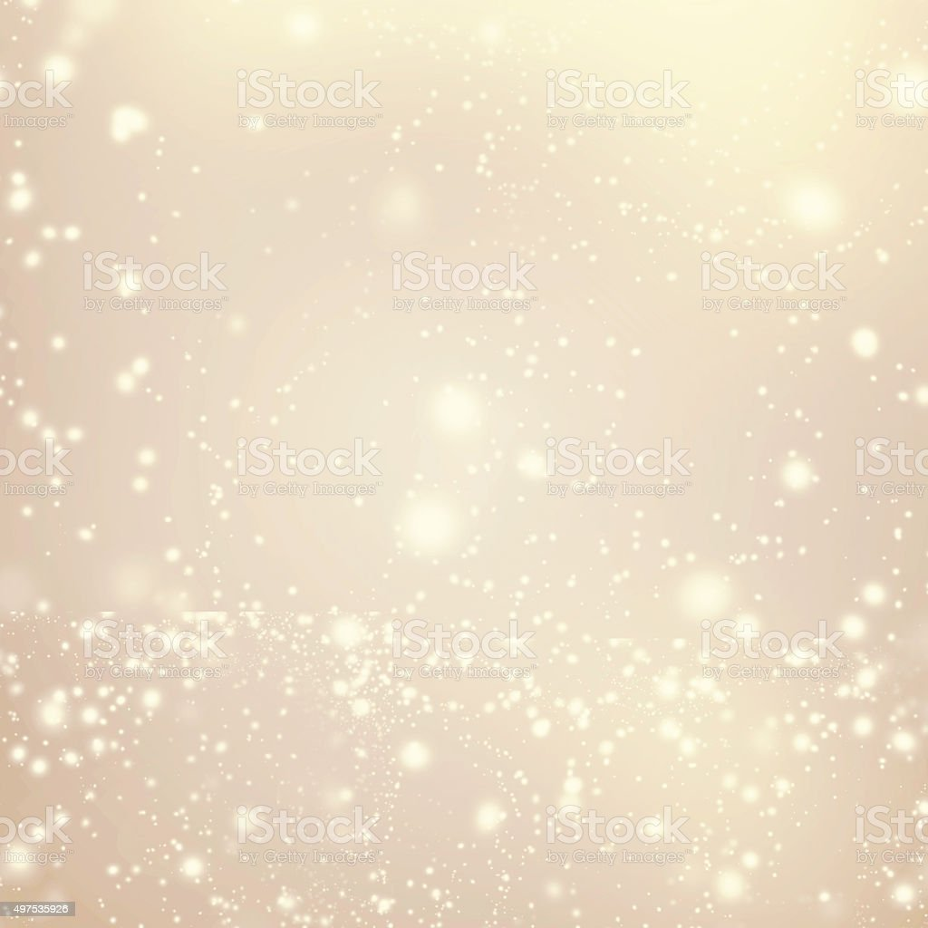 Abstract Golden Background with white Glitter Defocused Bokeh, stock photo