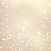 Abstract Golden Background with white Glitter Defocused Bokeh,