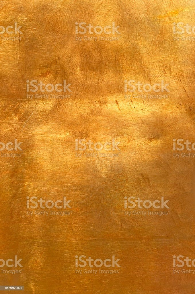 Abstract golden copper or bronze metal background XL stock photo