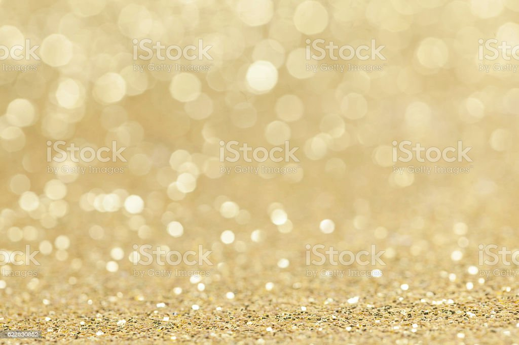 Abstract golden glitter background stock photo