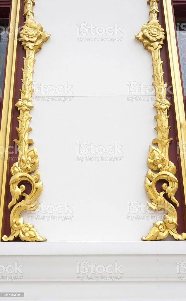 Абстрактный золотой lai тайском стиле арт фон рисунком Стоковые фото Стоковая фотография