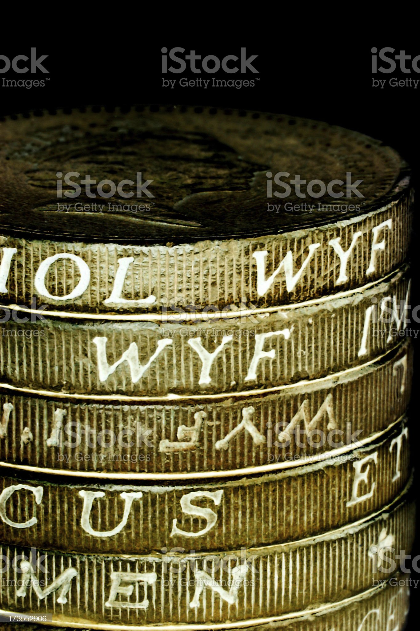 Abstract Golden Letters royalty-free stock photo