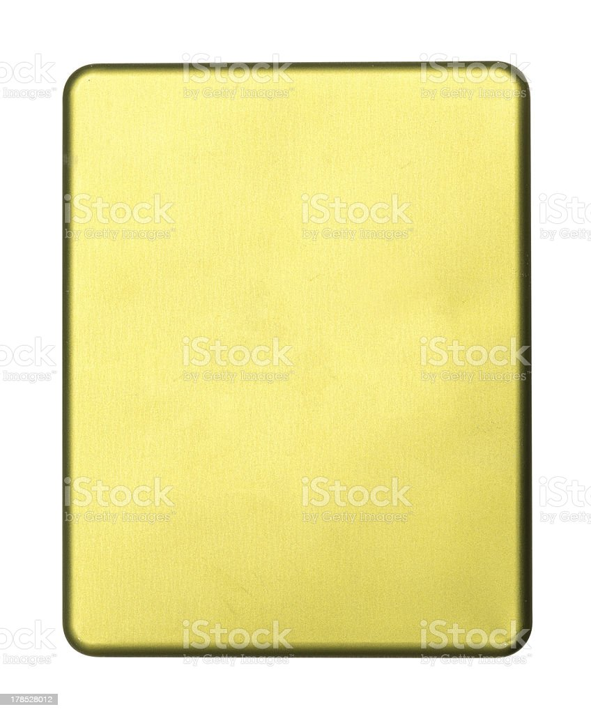 Abstract golden piece royalty-free stock photo