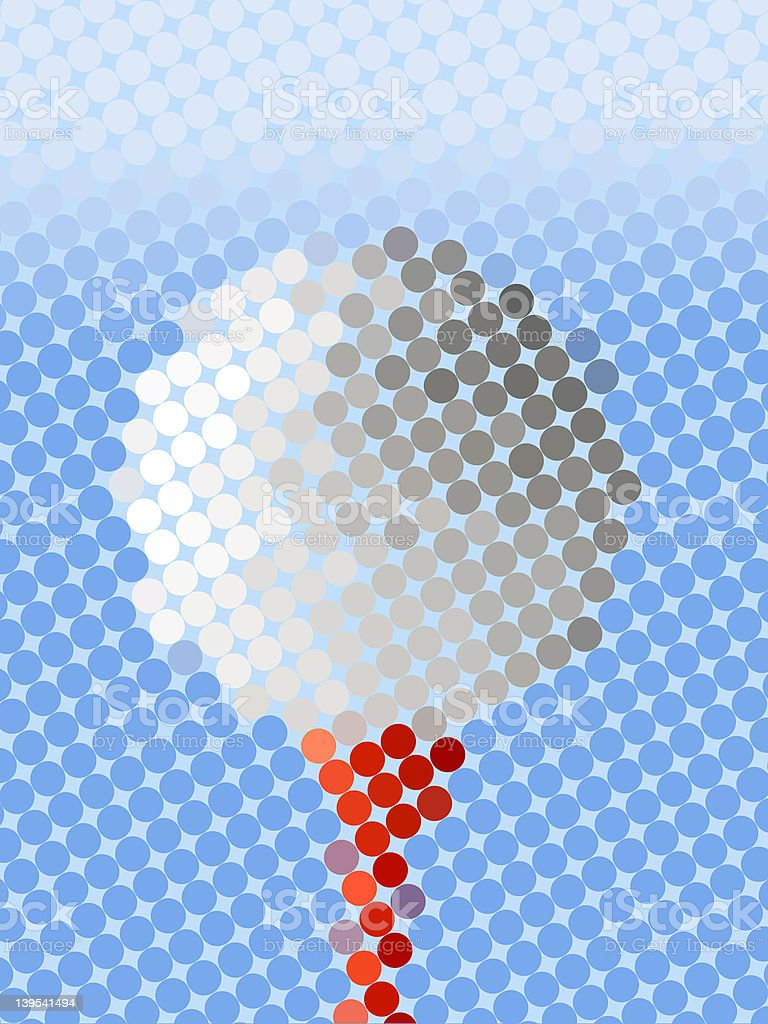 Abstract golf ball royalty-free stock photo