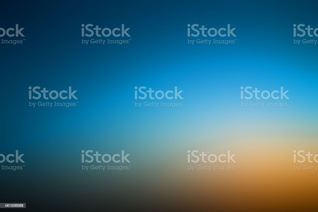 Abstract gradient with dark blue and orange  background stock photo