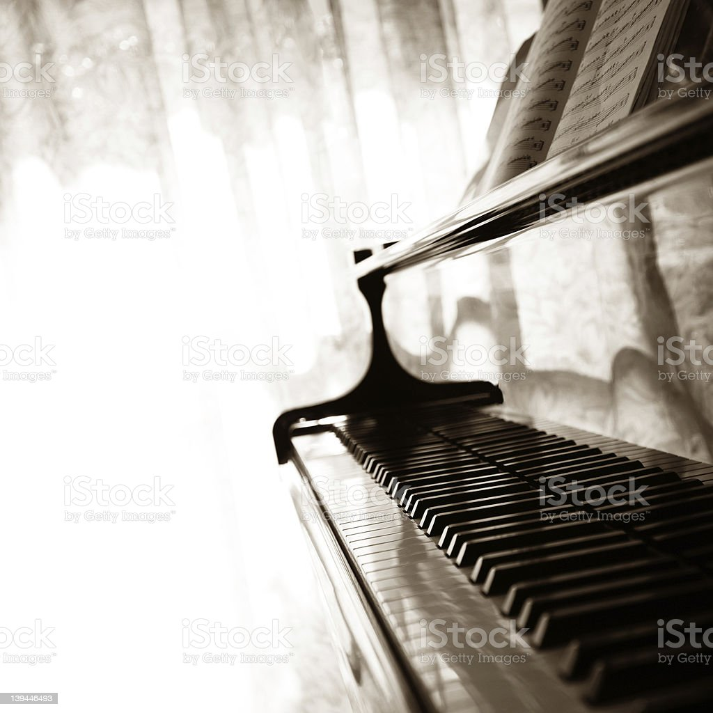 Abstract grand piano stock photo
