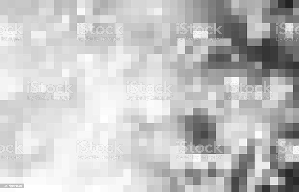 Abstract gray pixel background stock photo